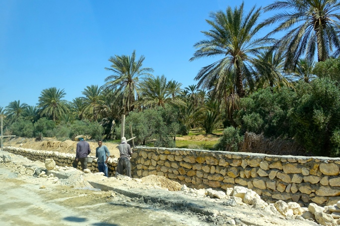 Men working on road in Tunisia