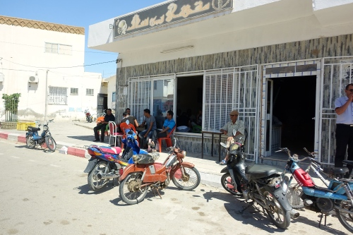 Motorcycles everywhere in Tunisia