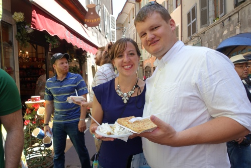 Paul and Shannon with Crepes