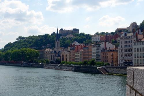 Rhone River. Lyon, France