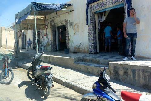 Shop along highway. Tunisia