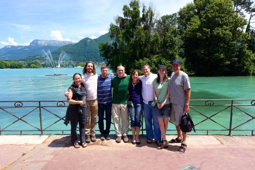 Team at Lake Annecy