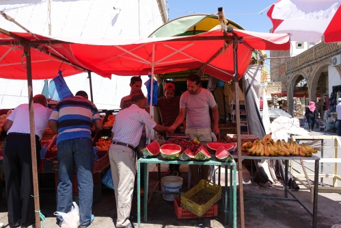 Watermelons for sale in Tunisia