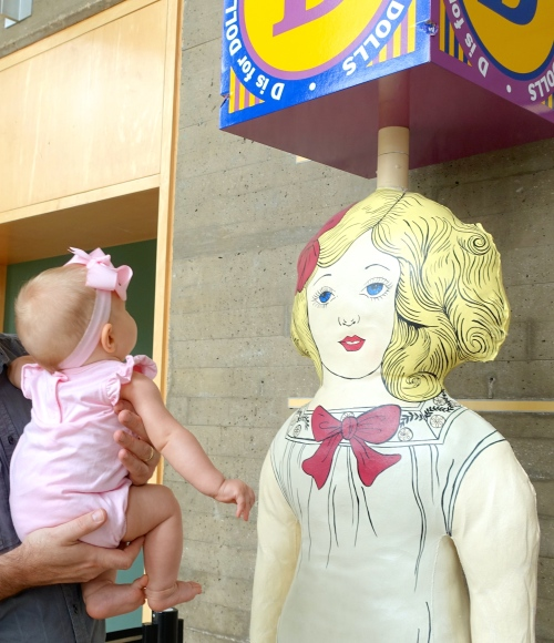 Baby at a museum