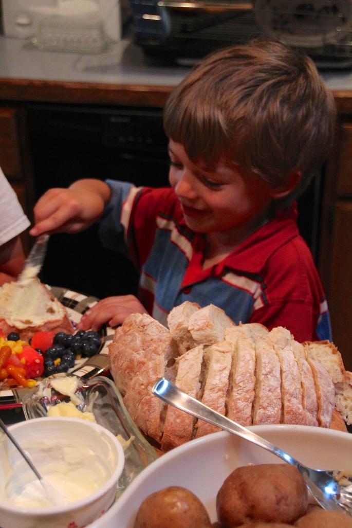 Child selecting food