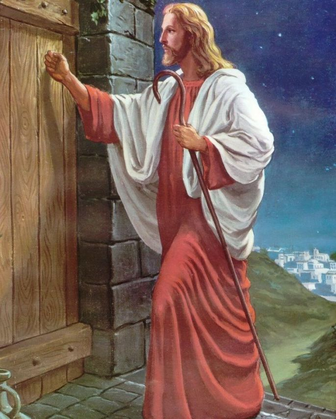 Christ knocking at door