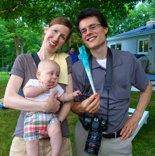 Dan and Brianna with Baby Sam