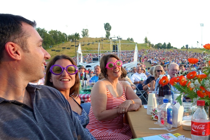 Elton John fans at the Grand Rapids Symphony Picnic Pops