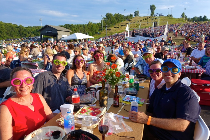 Elton John glasses at GR Symphony Picnic Pops