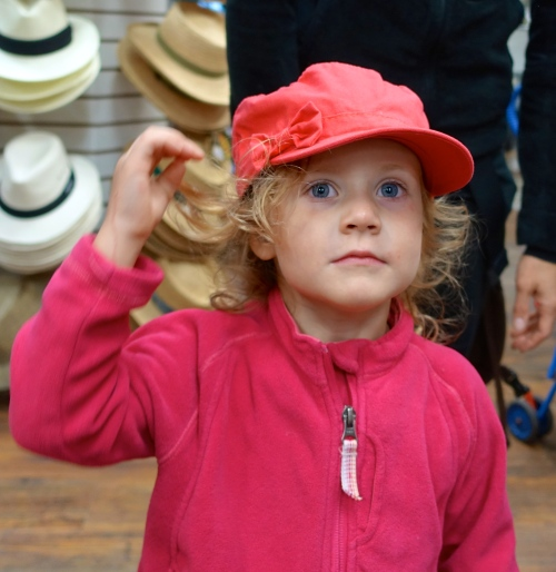 Little Girl with cap on