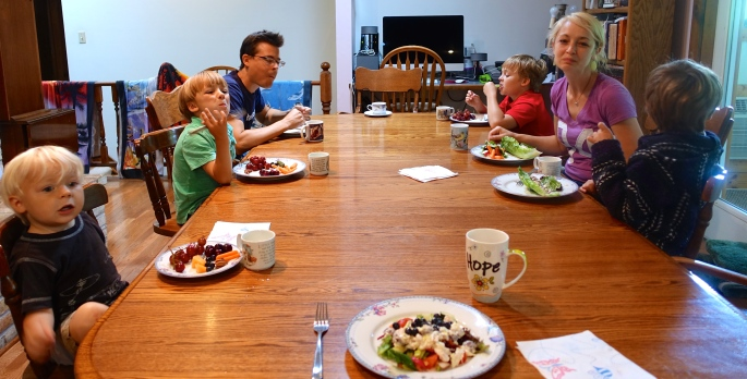 Lunchtime with children