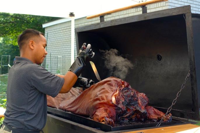 Pig Roast. Roasted Pig!