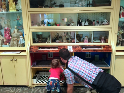 Playing with dolls at Carousel at Grand Rapids Public Museum 2