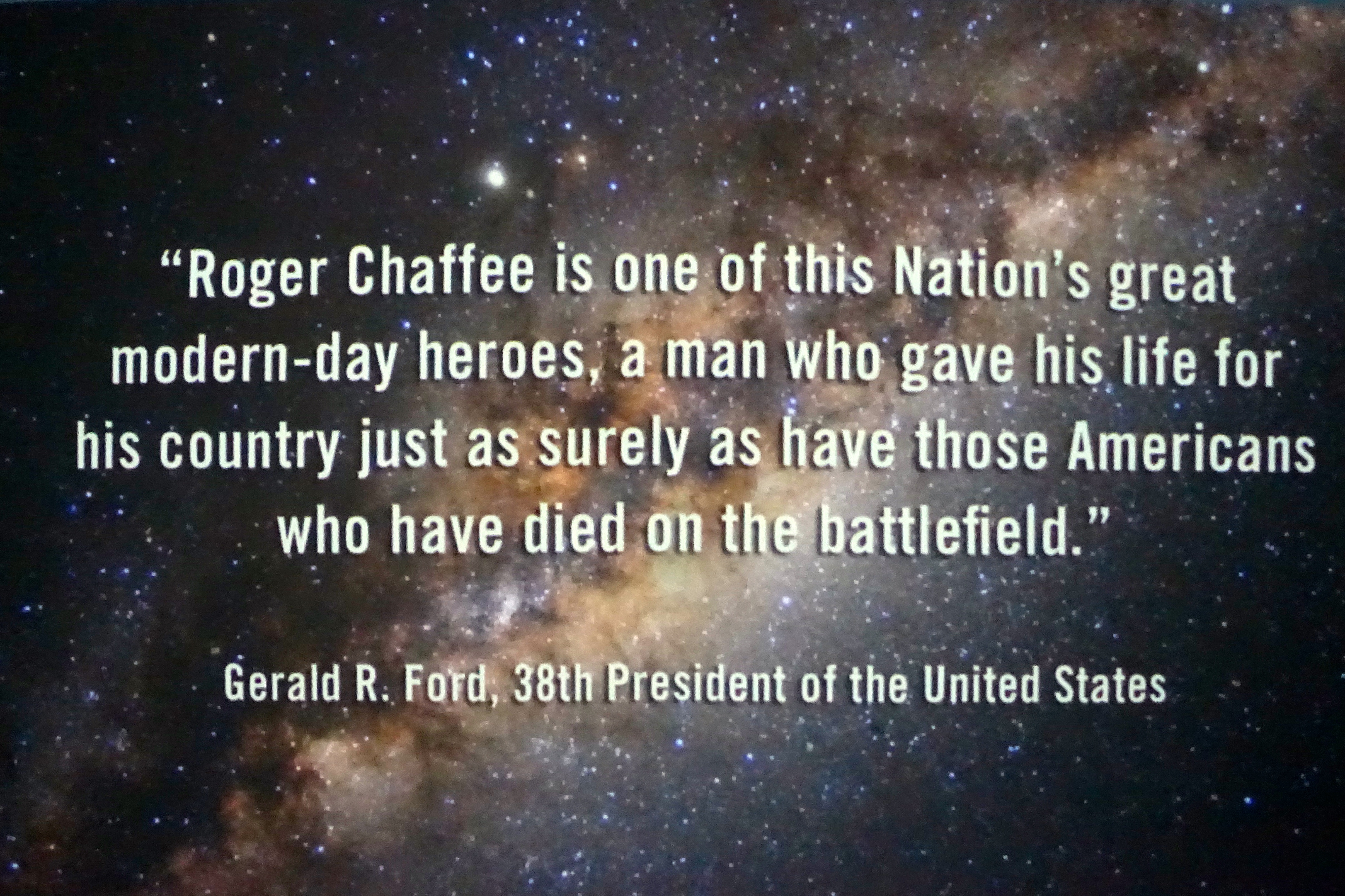 Roger Chaffee Planetarium quote by Gerald Ford