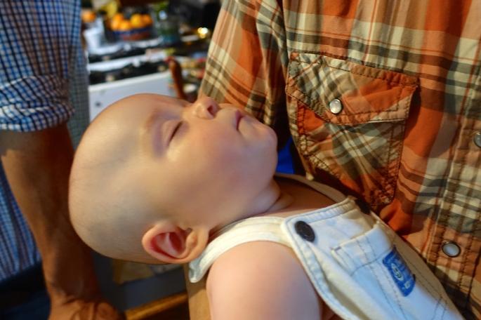 Samuel sound asleep at family reunion copy