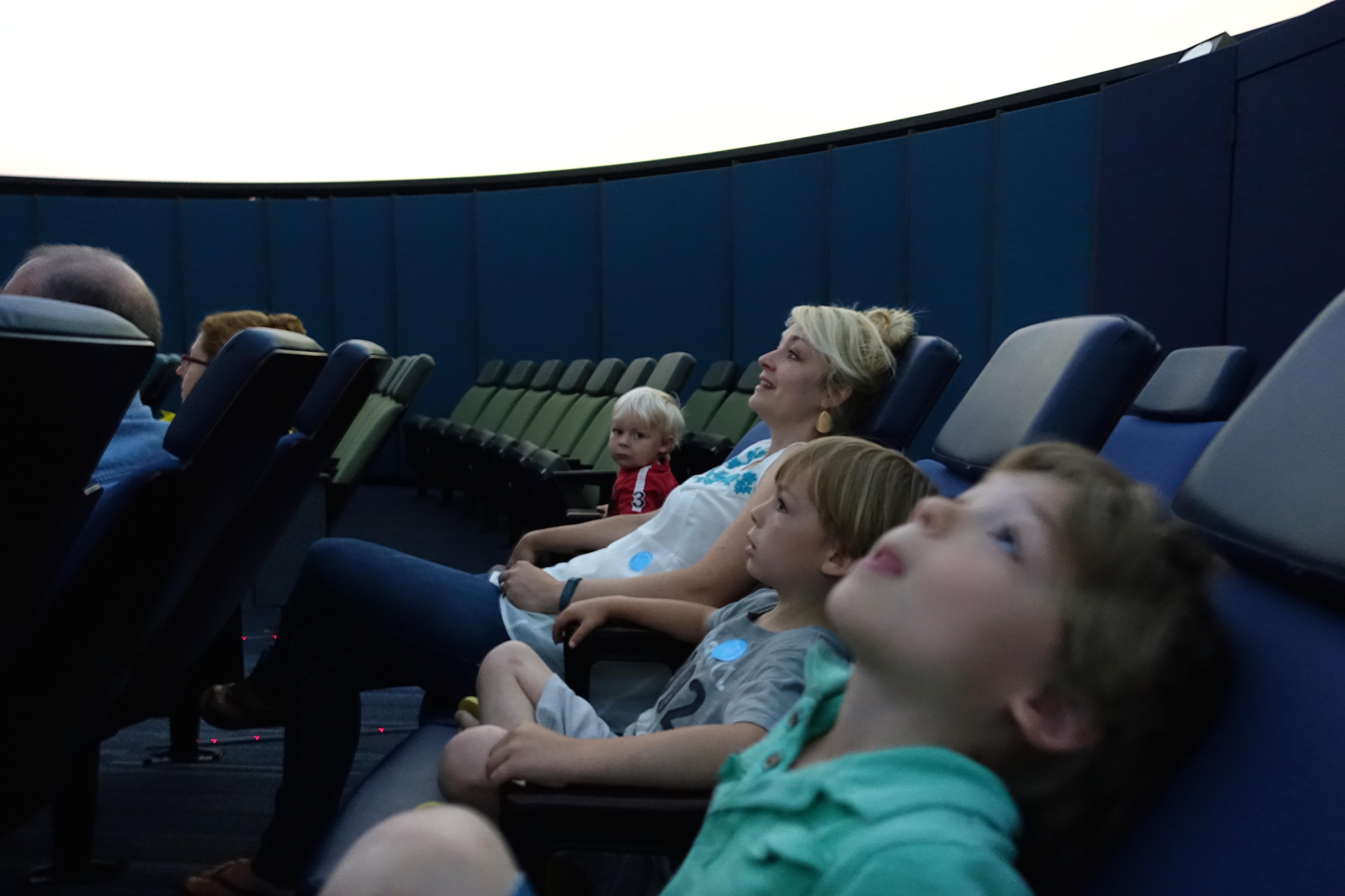 Star gazing at the planetarium