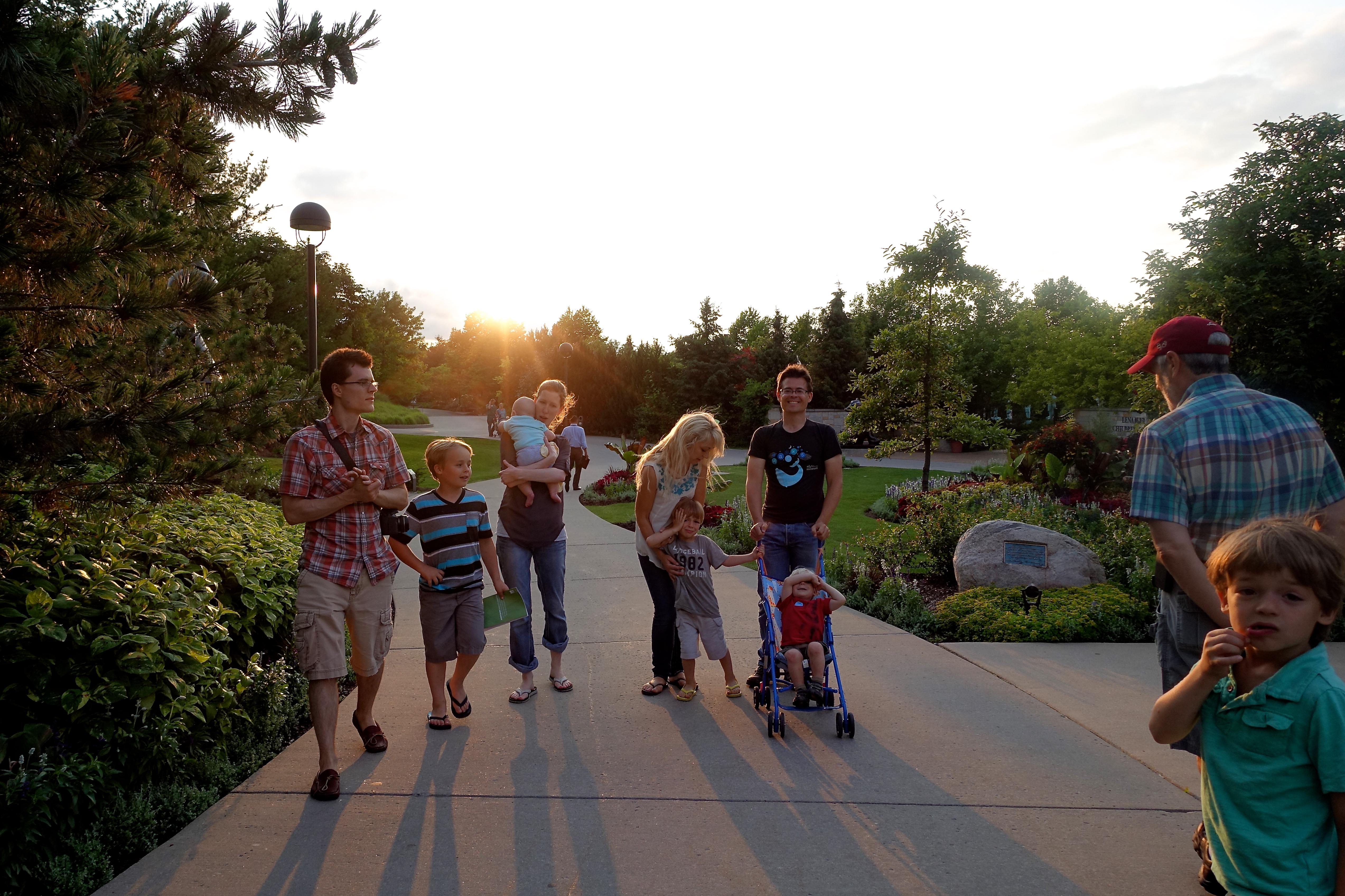 Taking Family to Meijer Garden