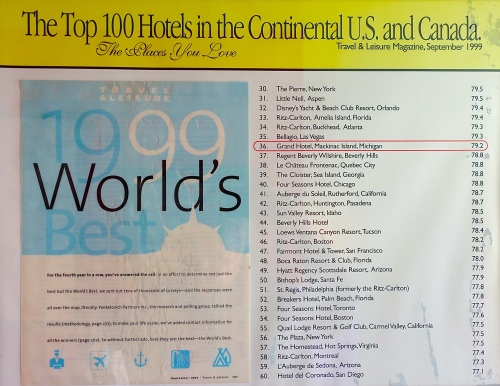 1999 Top 100 Hotels in World