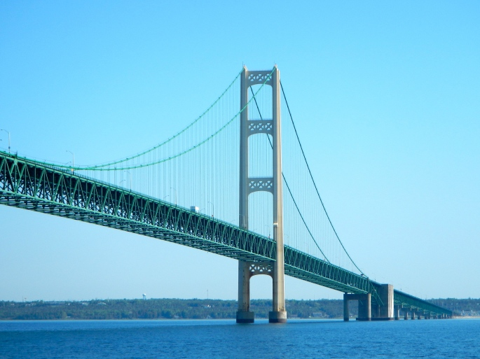 200' Drop from Mackinac Bridge