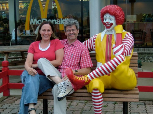Alan and Kathi with Ronald McDonald copy