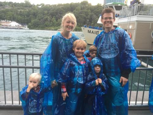All dressed for The Maid of the Mist.