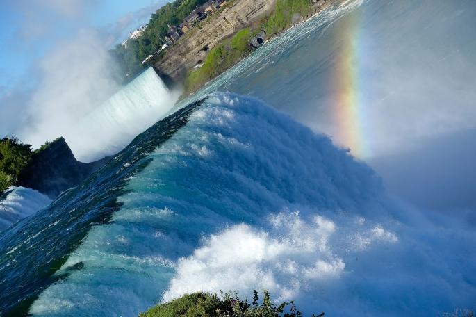 American and Horseshoe Fals at Niagara Falls