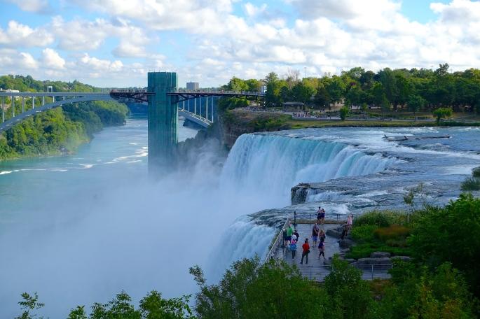 American Falls and Rainbow Bridge at Niagara