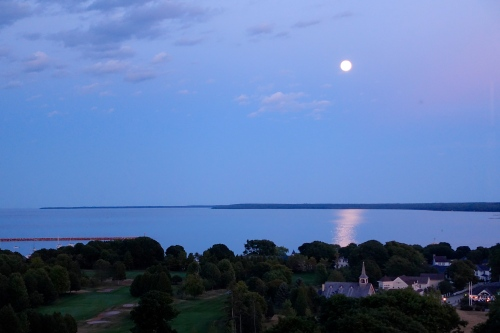 Blue Moon from Cupola at The Grand Hotel on Mackinac Island