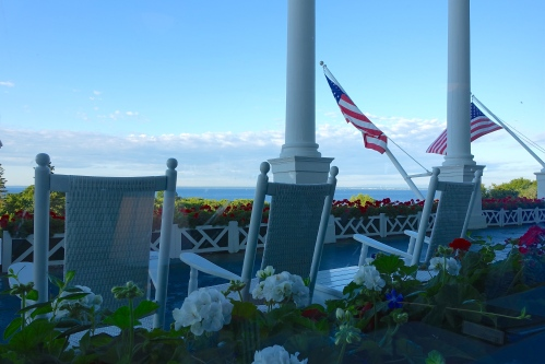 Breakfast view at The Grand Hotel on Mackinac Island