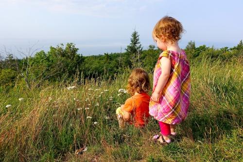 Children playing on Brockway Mt.