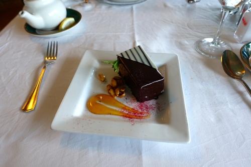Chocolate Hazelnut Cake at The Grand Hotel on Mackinac Island