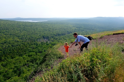Enjoying the View from the Top of Brockway Mt.