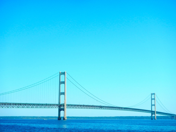 Great Span of the Mighty Mackinac Bridge