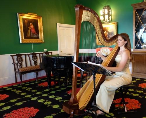 Harpist at The Grand Hotel on Mackinac Island