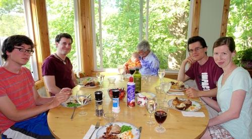 Last dinner with Dan's Fam
