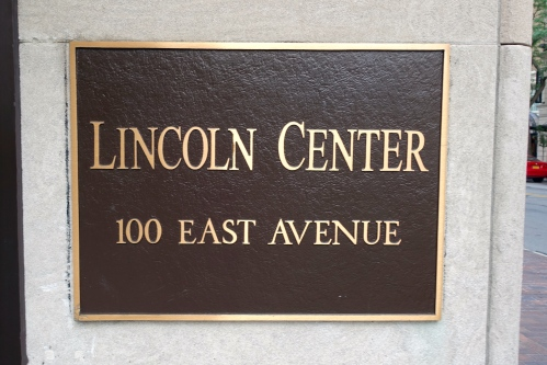Lincoln Center.
