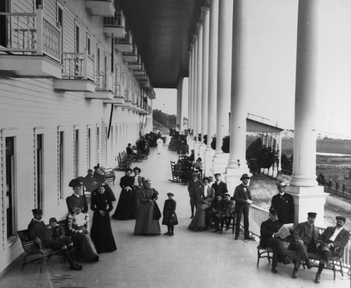 Longest Porch in World at the Grand Hotel on Mackinac Island