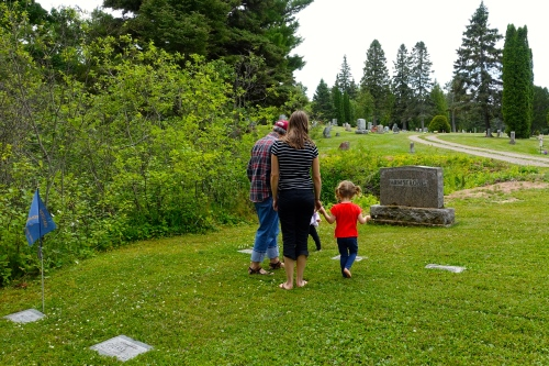Looking at the Cemetery