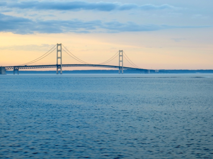Mackinac Bridge at Dusk 2