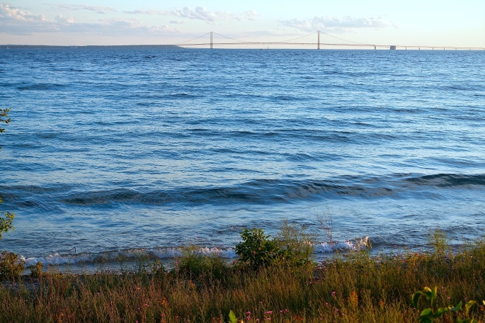 Mackinac Bridge in Distance from Mackinac Island