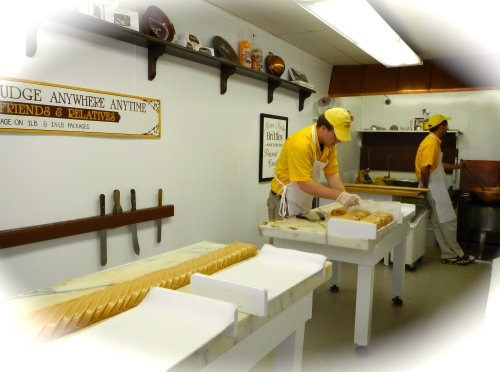 Making Fudge on Mackinac Island