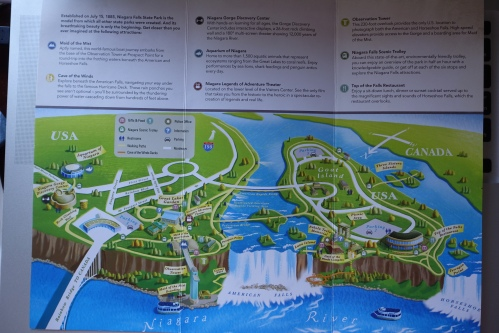 Map of Niagara Falls State Park