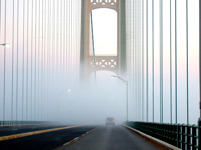 Misty Mackinac Bridge