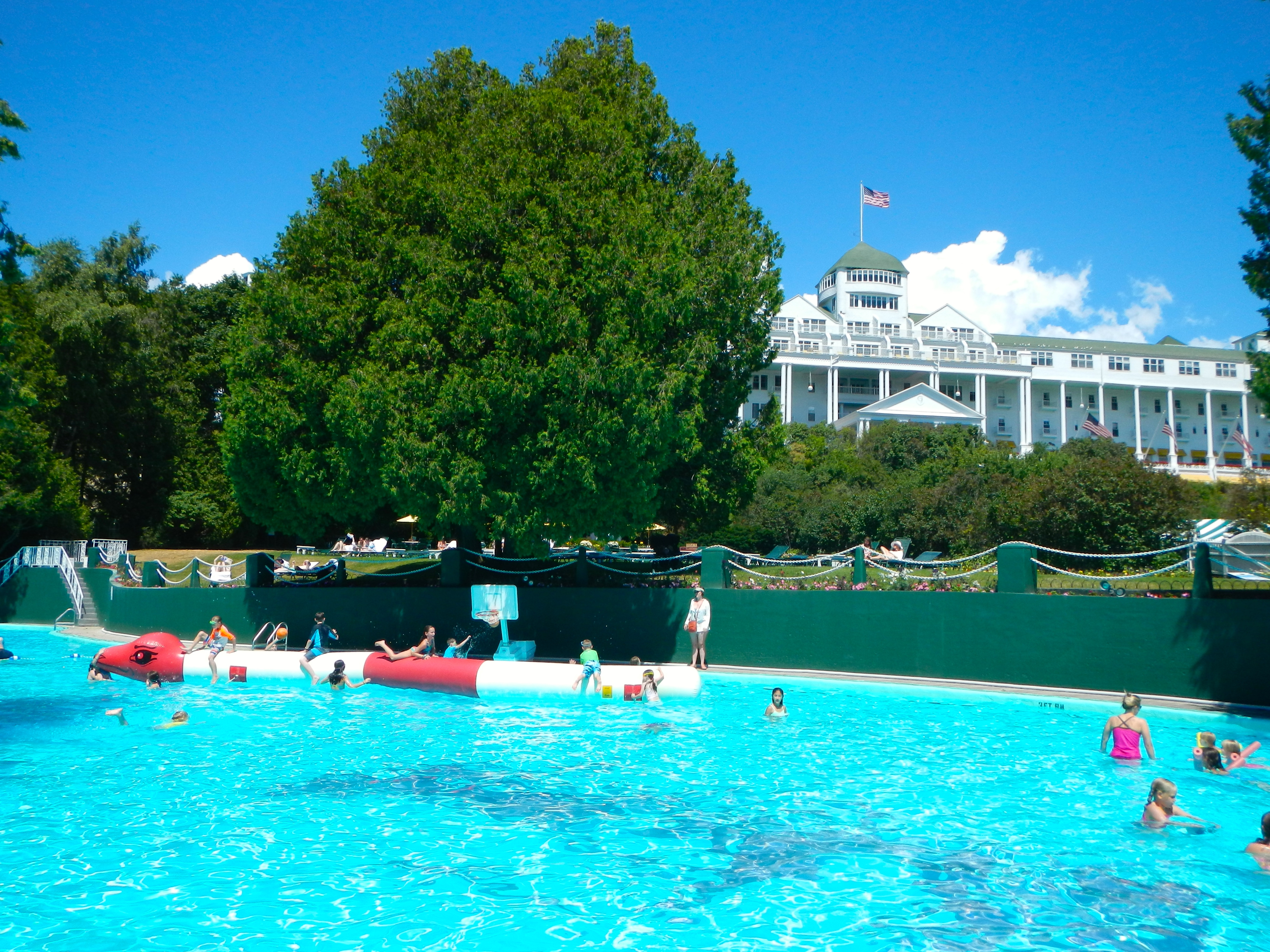 the esther williams swimming pool at the grand hotel summer setting