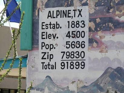 Population of Alpine TX