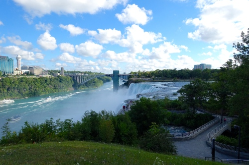 Rainbow Bridge over Niagara Falls