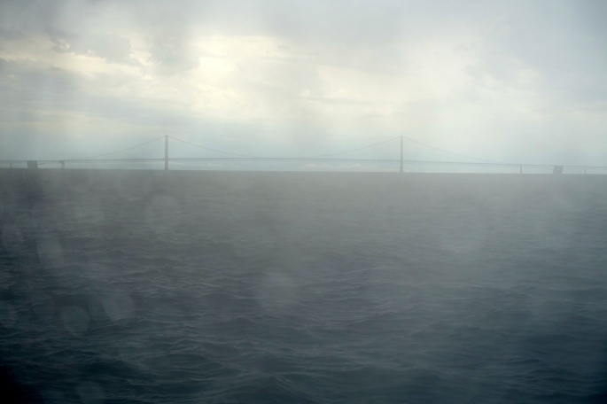 Rainy Day Mackinac Bridge
