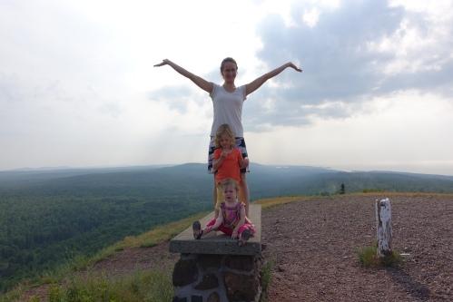 Rejoicing at the Top of Brockway Mt.