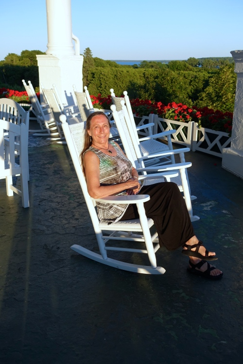 Rocking chairs at The Grand Hotel on Mackinac Island