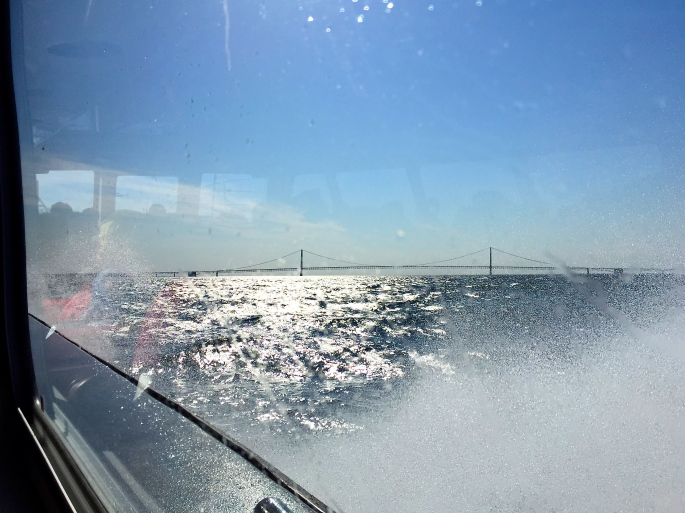 Rough Weather at Mackinac Bridge